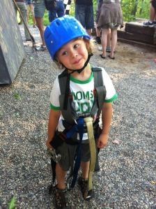 Buddy loved the zip line at camp